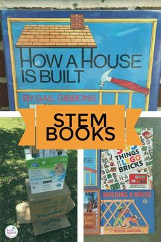 Are you looking for books to add to your STEM library? Don't overlook this book by Gail Gibbons.How a House is Built by Gail Gibbons is great STEM book that can be found in most libraries. Easy ideas for using this book in classroom are shared in this pos Social Studies Activities, Steam Activities, Science Activities For Kids, Cool Science Experiments, Science Books, Science Lessons, Book Activities, Teaching Reading, Teaching Ideas