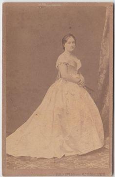 1880 C.A . RITRATTO DI GENTILDONNA IN POSA BY RABENDING MONCKHOVER WIEN-2503