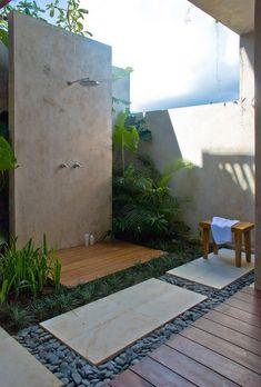 Bathing Inspiration-Outdoor Shower & Baths | The INSPIRED NESTER