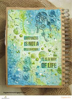 Dagmara Kos : Crackle Art Journal page mixed media with DecoArt Media Kaisercraft The Crafter's Workshop