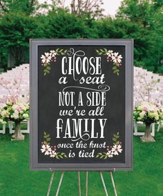 Country Bloom Chalk Wedding Seating Sign by CreativeUnionDesign