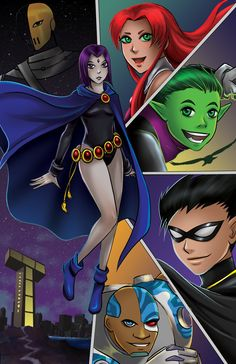 Teen Titans by TyrineCarver.deviantart.com on @DeviantArt