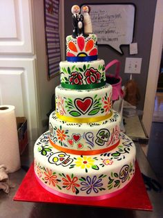 Day of the Dead Wedding cake!