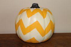 Chevron Pumpkin - Halloween, Thanksgiving, Fall, Autumn. $19.00, via Etsy.