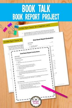 Take the guesswork out of helping ELA students prepare for an oral book report or book talk. This simple resource has everything you need to be successful when teaching and assigning an oral book report presentation. English Teaching Resources, Teaching Tips, Teacher Resources, Middle School Literature, Book Report Projects, Poetry Unit, School Levels, High School English, Teacher Hacks