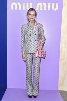 Diane Kruger attends the Miu Miu show as part of the Paris Fashion Week Womenswear Spring/Summer 2017 on October 5 2016 in Paris France