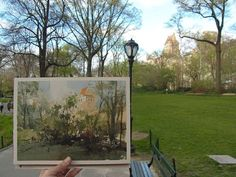 Chien Chung-Wei     plein air in New York Central Park.