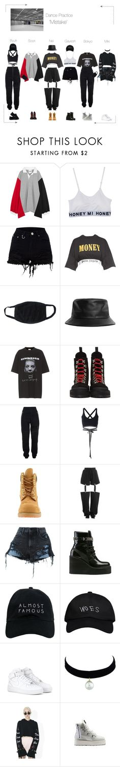 """""""Lunar (루나) 'Mistake' Dance Practice"""" by lunar-official ❤ liked on Polyvore featuring Koché, Palm Angels, Stampd, Vetements, Off-White, Jeremy Scott, Puma, Timberland, Alexander Wang and Nasaseasons"""
