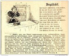 Original-Werbung/Anzeige 1898 - DALLI HANDPLÄTTMASCHINE / DEUTSCHE GLÜHSTOFF…