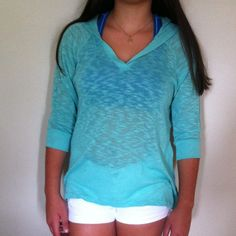 Mint Hollister Hoodie or Beach Coverup Mint Hollister Hoodie or Beach Cover up. Worn once. Hollister Tops Sweatshirts & Hoodies