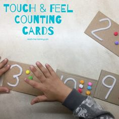 Make these touch and feel counting cards for your child to have a multi sensory learning experience when introducing simple counting! A while ago I madeTouch & Feel Shapesand it was so effective and my 4 year old loved it. Today it is numbers! When a child learn with more than one sense at a …
