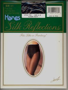 Vtg Hanes Silk Reflections Floral Edge Panty