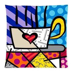 Original painting by the Brazilian artist Romero Britto - Paris Art Web Arte Pop, Graffiti Painting, Graffiti Art, Paris Kunst, Pop Art, Neo Pop, Art Web, Love Posters, Coffee Art