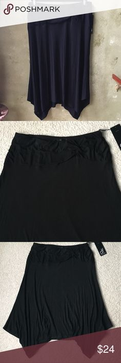 Daisy Fuentes Handkerchief Skirt Daisy Fuentes Handkerchief Skirt in Black. Size 1X with elastic waistband. Very comfy skirt perfect for any occasion. NWT Daisy Fuentes Skirts