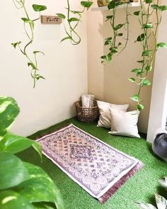 Home Room Design, House Design, Muslim Prayer Mat, Prayer Corner, Living Room Decor Colors, Islamic Decor, House Plants Decor, Prayer Room, House Rooms