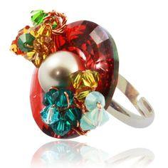 Bijoux De Ja Multi Color Shape Swarovski Crystal Pearl Flower Handmade Adjustable Ring Size 5-9 Bijoux De Ja http://www.amazon.com/dp/B00CRVHFZI/ref=cm_sw_r_pi_dp_UsV-vb0C0T0BP