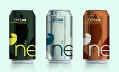 Steve Rura over at Letters & Numbers has designed some very striking can designs and identity concepts for Nestea.