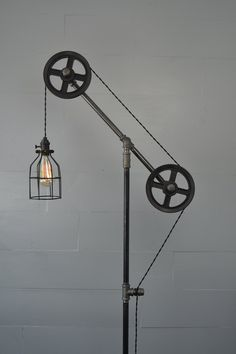 Steampunk Industrial Floor Lamp