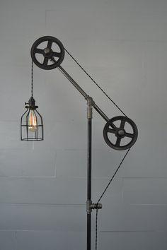 Steampunk Industrial Floor Lamp