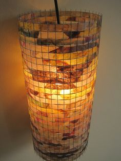 etsy lampada : lamp with recycled coffee filters !!!