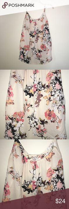 Ann Taylor LOFT Floral Tank Ann Taylor LOFT Floral Tank. Worn twice. In like new, perfect condition. 100% Polyester. Runs true to size. Straps are adjustable. LOFT Tops Tank Tops