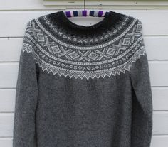 Bilderesultat for strikkegenser rundstrikk Fair Isle Knitting, Knits, Arts And Crafts, Men Sweater, Crochet, Sweaters, Pattern, Ideas, Fashion