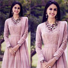Charming Pink Tarun Tahiliani Anarkali from Tarun Tahiliani