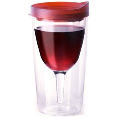 Amazon.com: Vino2Go Double Wall Insulated Acrylic Wine Tumbler with Merlot Slide Top Open/Close Drink Through Lid 10 oz.: Kitchen & Dining