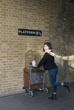 "12 Literary Spots In London That Every Book Lover Needs To Visit: Located: King's Cross Station For fans of: Harry Potter, fantasy, magic, all that is good in the world The ""Platform 9¾"" sign (which marks the secret passageway to the Hogwarts Express, but you knew that) has moved around a bit since the first film was released, but these days you can find it in the western departures concourse at King's Cross Station. Half of a luggage trolley, complete with owl cage, sticks out of the wall…"