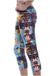Blue Lagoon Capri  Leggings/ Yoga Pants