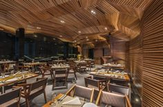 Sanjay Puri Architects have designed Auriga, a restaurant and nightclub located in Mumbai, India.