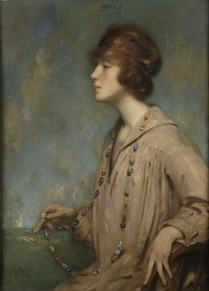 The dreamer by Andrew Law (1873-1967)