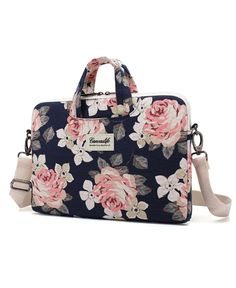 Rose Floral Laptop Carrying Bag   College Graduation Gift Ideas for Girls