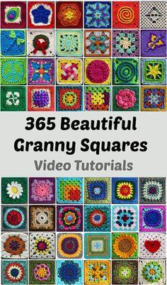 365 Granny Squares - Tutorials | Beautiful Skills - Crochet Knitting Quilting | Bloglovin'