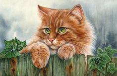 Irina Garmashova-Cawton - Artiste Peintre Animalier - Spécialiste des Peintures et Portraits Félins - Couleurs - Chat