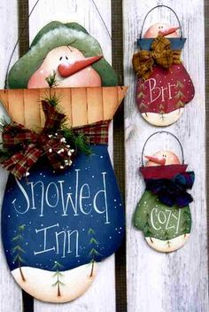 Painted Wooden Christmas Ornament Patterns