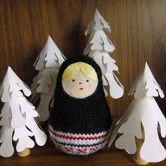 Knitted Matryoshka Nesting Doll