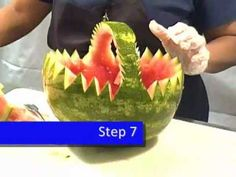 How To: Carve A Fruit Watermelon Basket by Royal Catering