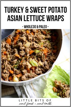 The Highest Three Chicory Espresso Manufacturers - Include A Novel Taste On Your Cup Of Joe These Turkey And Sweet Potato Asian Lettuce Wraps Are A Super Easy Dinner For A Weeknight Using Frozen Vegetables For Added Nutrients And Paleo Dinner Paleo Whole 30, Whole 30 Recipes, Paleo Recipes, Real Food Recipes, Potato Recipes, Easy Paleo Dinner Recipes, Breakfast Recipes, Turkey Recipes, Dessert Recipes