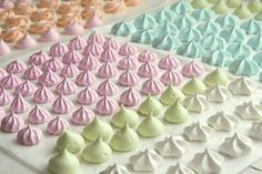 meringue kisses for sweets table