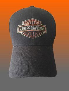 7993ec62963 Harley Davidson H-D Embroidered Bar   Shield Baseball Cap Hat Strapback  Black