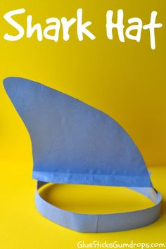 Shark Hat Craft - Fun and cute kids craft for an ocean unit or shark week!