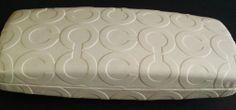 "COACH Eyeglasses Optical Ivory/White Hard Case Signature ""C"" w/cleaning cloth #Coach"