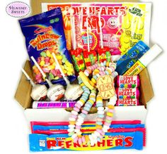 Retro-Swizzels-Matlow-Sweet-Hamper-Love-Hearts-Christmas-Birthday-Gift-Box-s Christmas Birthday, Birthday Gifts, Sweet Hampers, Retro, Love Heart, Box, Hearts, Sweets, Birthday Presents