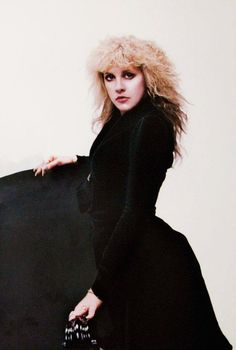 a dramatic photo of Stevie    ~ ☆♥❤♥☆ ~       taken by Herbert W. Worthington 111 taken during her  'Rock A Little' cover photo shoot