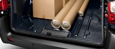 Peugeot Loading: Handle your goods and materials with ease with a load sill that's the lowest on the market and has pneumatic suspension so it can be adjusted when the vehicle is stationary. Peugeot, Stationary, Handle, Van, Activities, Vehicles, Rolling Stock, Vans, Vehicle