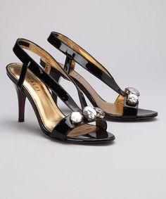 Amalfi Black Letizia Slingback by Glamour Time: Women's Shoes