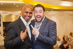 Comedian Jason Manford at CAFT charity ladies' lunch.