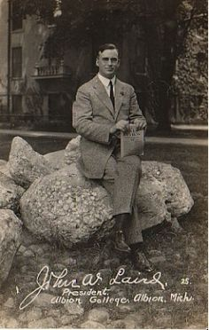 Dr. John W. Laird, President, Albion College; 1923