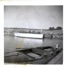 My grandfather's boat. Love the old wooden boats.